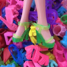 10 Pairs Set Fashion Party Daily Wear Dress Outfits Cloth Shoes For Barbie Doll
