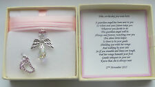 New Baby Girl Birth Gift Guardian Angel keepsake present Personalised MEMORY BOX