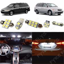 8x White LED lights interior package kit for 1999-2004 Honda Odyssey HO2W