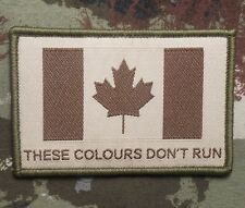 THESE COLOURS DON'T RUN CANADA FLAG CANADIAN MULTICAM VELCRO® BRAND FASTER PATCH