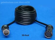 us seller 30-FOOT 13-PIN LOCKING EXTENSION MALE FEMALE CABLE ROLAND PLANET WAVES