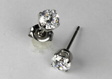Studex Sensitive Stainless Steel 5mm Clear Cubic Zirconia CZ Stud Earrings