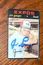JIM GOSGER SIGNED AUTOGRAPHED 1971 TOPPS CARD # 284 MONTREAL EXPOS