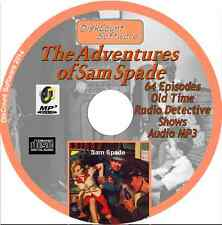 The Adventures of Sam Spade - 64 Old Time Radio Detective Shows -  Audio MP3 CD