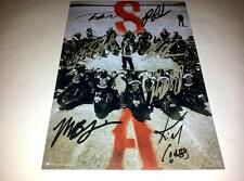"SONS OF ANARCHY CASTX7 PP SIGNED 12""X8"" POSTER CHARLIE HUNNAM RON PEARLMAN SOA 4"
