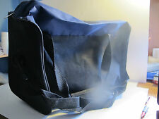 "15"" Duffel Bag. Sturdy Canvas Like Material. Black with Blue or Black. New."