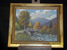 """Harry H Howe Listed Artist Oil On Panel """"South Andover Maine"""" Landscape Painting"""