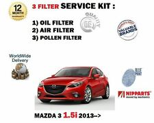 FOR MAZDA 3 BM 1.5 P5Y1 2013--  NEW OIL AIR POLLEN 3 FILTER SERVICE KIT