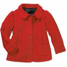 Healthtex Baby Toddler Girl Essential Peacoat Jacket, 3T, Red