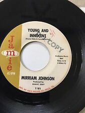 "TEEN ROCK PROMO 45/ MIRRIAM JOHNSON ""YOUNG & INNOCENT""  HEAR!"