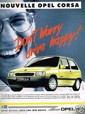 Publicité advertising 1990 Nouvelle Opel Corsa