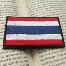 Thailand Country FLAG THAI ARMY FLAG 3D EMBROIDERY HOOK LOOP PATCH BADGE