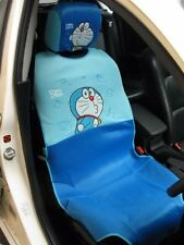 Doraemon Car Accessory #G : 2 pieces Full Car Seat Cover + Head Rest for 1 Seat