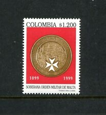 Colombia 1156, MNH, Sovereign Military Order of Malta 1999. x23462