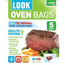 Look Oven Bags Large size, 3-5kg Cooking Roasting Microwave Freezer Pack of 5