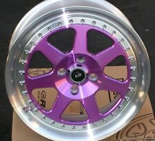 1 ROTA J-MAG 15X7 +40 4X100 67.1 ROYAL PURPLE RIM WHEEL ( 1 WHEEL )