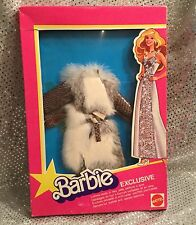 RARE EURO BARBIE EXCLUSIVE EUROPEAN SUPERSTAR FASHION FUR COAT OUTFIT