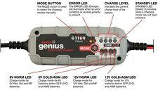 NOCO Genius G1100UK 6V/12V 1.1A UltraSafe Smart Battery Charger Car Motorbike