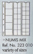 Numis coin pages - Numis MIX. 5 sheets & white interleaving