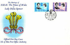 ISLE OF MAN 1981 ROYAL WEDDING UNADDRESSED FIRST DAY COVER SHS