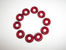 Kart 10 x M6 x 18mm x 4mm CSK Countersunk Washer Brand New Red Best on EBay