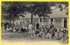cpa 37 LE CAMP MILITAIRE du RUCHARD (Indre et Loire) L'HEURE de la SOUPE Animée