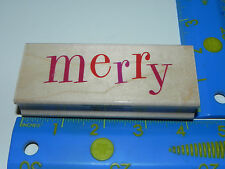 Hero Arts Rubber Stamp - Big MERRY H3611 (for Holiday Phrase)