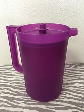 Tupperware Classic Sheer 2 Quart Pitcher Purple New