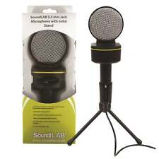 Soundlab Digital Condenser Microphone 3.5mm Stereo Jack + Stand For PC or Laptop