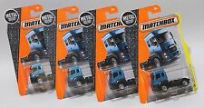 '13 FORD CARGO * LOT OF 4 * 2016 MATCHBOX * BLUE TRUCK DELIVERY SEMI