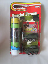 Majorette Special Forces Serie 929 (2) Military Antiaircraft Tank & Playmat 9205