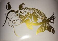 Koi Fish JDM Japan Chinese illest Car Gold Vinyl Decals Stickers Diesel Car