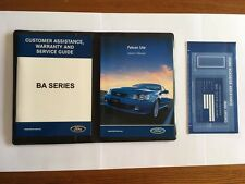 Ford Falcon BA Series Ute Service Books + Owner's Manual NOS