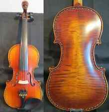 Strad Style left hand drawing scroll song inlay shell 5string violin 4/4 #11578