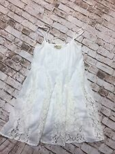 HOLLISTER XS Off White Flowy Hippie Boho Lace Corset Babydoll Top Tank Ivory