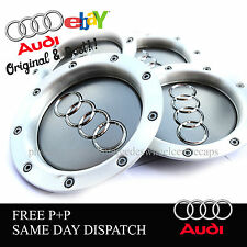 AUDI RS4  WHEEL CENTRE CAPS X4 FITS MOST AUDI TT A1 A2 A3 A5 A4 A6 A8 8D0601165K