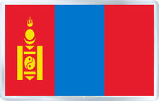 MONGOLIA FLAG FRIDGE MAGNET SOUVENIR IMAN NEVERA