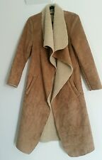 Ladies Thick Padded Coat Size Small Woman Long Jacket Beige Snow Winter Coat Fit
