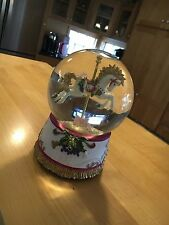 San Francisco Music Box Company 1996 Merry Go Round Carousel Horse Snow Globe