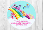 35 x Personalised My Little Pony Birthday Party Stickers Thank You Seals