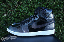 NIKE AIR JORDAN 1 RETRO HIGH SZ 10 BLACK WHITE PATENT LEATHER 332550 017