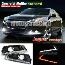 LED Daytime Running Light For Chevy Malibu Fog Lamp DRL 2012 2013 2014 With Turn