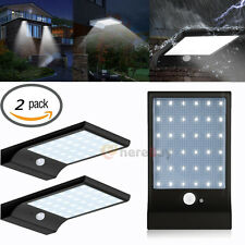 2-Pack 36 LED Solar Powered Motion Sensor Garden Security Lamp Waterproof Light