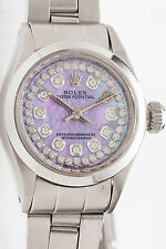 $7000 Genuine ROLEX Ladies OYSTER 1ct Diamond PINK MOP Watch & BOX & Warranty