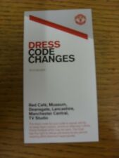 2013/2014 Ticket: Manchester United - Dress Code Changes. Thanks for viewing thi