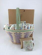Longaberger 2004 Large Easter Basket Combo NIB Whitewashed Tie On