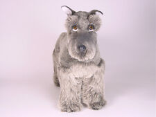 Miniature Schnauzer by Piutre, Hand Made in Italy, Plush Stuffed Animal NWT