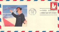 1956 Air Mail First Day Cover Sinatra Add-on Cachet