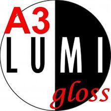 A3 200 GSM Lumi brillante de 2 X 100 hojas de papel de impresora de cara-Laser Digital Litografía