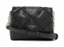 New Guess Winnett Petite Faux Leather Crossbody Bag-BLACK-One Size